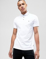 Ted Baker Polo With Textured Collar