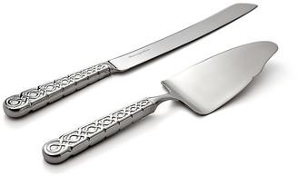 Ricci 2-Pc Labirinto Cake Knife & Server silver