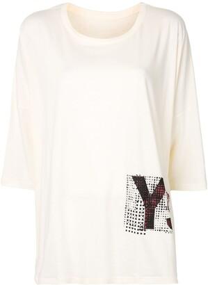 Y's oversize logo print T-shirt