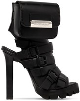 DSQUARED2 120mm Buckled Leather Sandals W/purse
