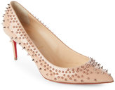 Christian Louboutin Pink & Gold Escarpic Spiked Pointed Toe Pumps