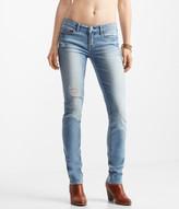 Light Wash Destroyed Skinny Jean