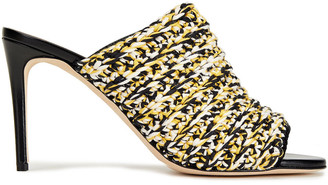 Victoria Beckham Crocheted Cotton-blend Mules