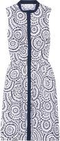Oscar de la Renta Bedrucktes Kleid Aus Popeline Aus Einer Baumwollmischung
