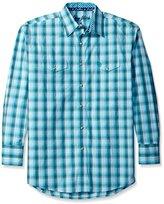 Wrangler Men's George Strait Patriot Two Pocket Long Sleeve Woven Shirt