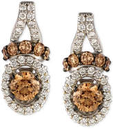 LeVian Le Vian Chocolatier Diamond Drop Earrings (7/8 ct. t.w.) in 14k White Gold