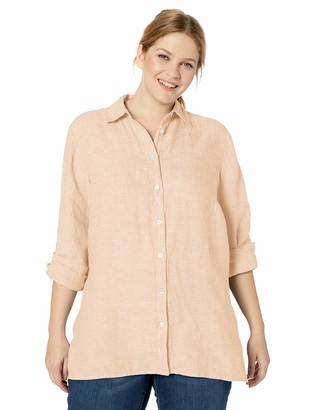 Foxcroft Women's Petite Journey Chambray Linen Shirt