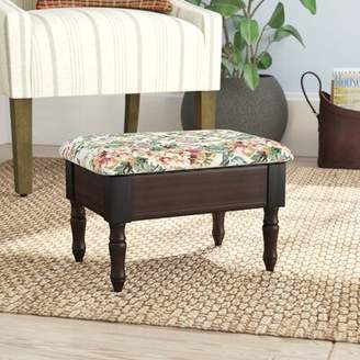 August Grove Cleo Queen Anne Style Leather Storage Ottoman August Grove
