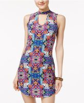 Ultra Flirt Juniors' Floral-Print Bodycon Dress