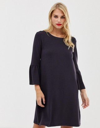 French Connection Paros fluted sleeve dress-Navy
