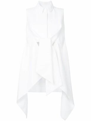 DELPOZO Wrap-Style Asymmetric Blouse