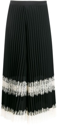 Twin-Set Pleated Lace Trousers