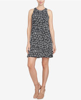 CeCe Printed Twist-Back Shift Dress