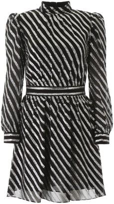 MICHAEL Michael Kors Lurex Striped Mini Dress