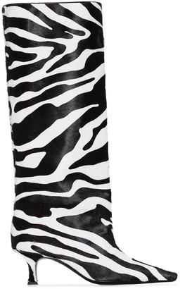 Magda Butrym Zebra-Print 50mm Boots
