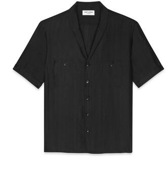 Saint Laurent Silk Short-Sleeved Shirt