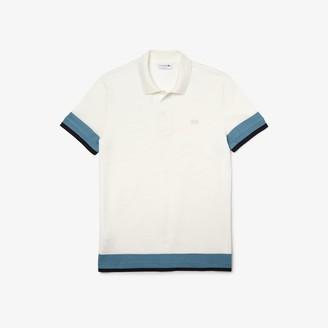 Lacoste Men's Regular Fit Textured Cotton Pique Polo