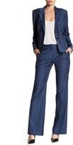 Classiques Entier Flare Leg Wool Blend Suit Pants