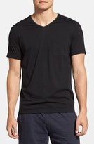 Daniel Buchler Men's Silk & Cotton Short Sleeve V-Neck T-Shirt