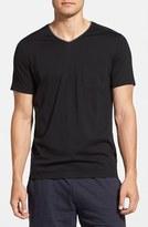 Daniel Buchler Silk & Cotton Short Sleeve V-Neck T-Shirt