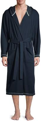 Black Brown 1826 Hooded Cotton Robe