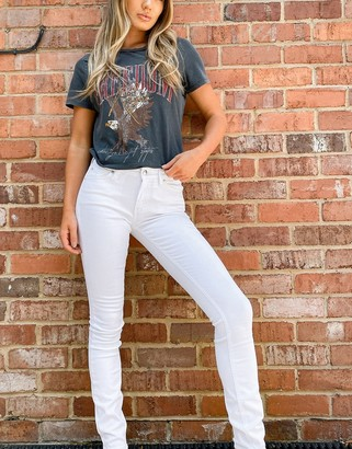 Calvin Klein mid rise skinny jeans in white