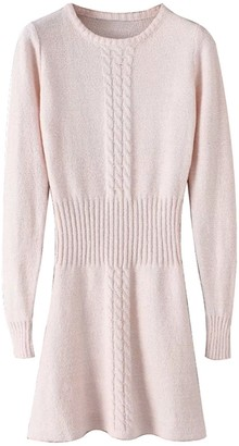 Goodnight Macaroon 'Jeanette' Cable Waist Sweater Dress
