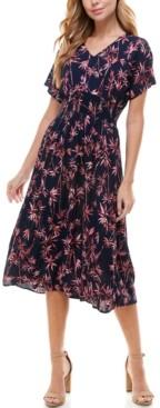 BeBop Juniors' Dolman-Sleeve Fit & Flare Dress