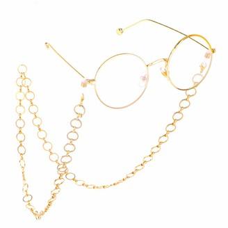 Fauhsto Glasses Chains Diamond Round Shape Fashion Galsses Chain Reading Glasses Anti-lost Chain Neck Cord Sunglasses Lanyards Glasses Decoration