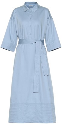 Co Belted cotton shirt dress