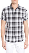 Howe Fog Crest Checked Short Sleeve Regular Fit Shirt