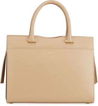 Saint Laurent Uptown Medium Leather Satchel Bag