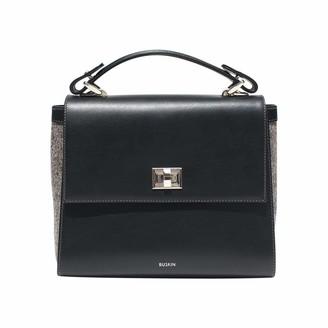 Ruskin Aster Leather + Tweed Handbag