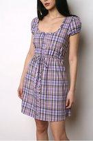 Kimchi Blue Plaid Drawstring Dress