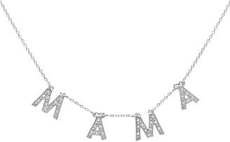 Lola Rose London Mama Diamond Charm Necklace Silver