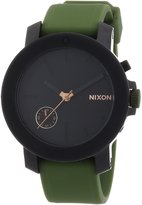 Nixon Women's The Raider/Pursue Your Denstiny White Crystals Black Dial Black Rubber