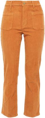 Frame Le Cord Bardot Cropped Cotton-blend Corduroy Slim-leg Pants