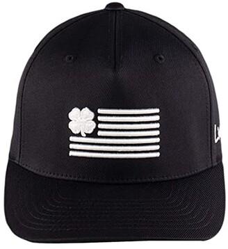 Black Clover Clover Nation 2 Adjustable Hat (White Clover/White Trim/Black) Baseball Caps