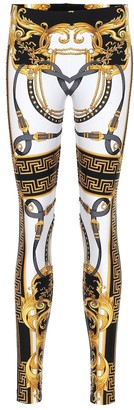 Versace Printed high-rise leggings