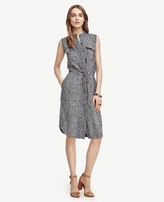 Ann Taylor Petite Dash Drawstring Shirtdress