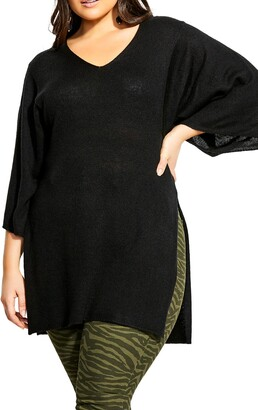 City Chic V-Neck Tunic Top