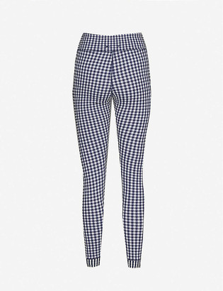 The Upside Masilda gingham-print mid-rise stretch-woven leggings