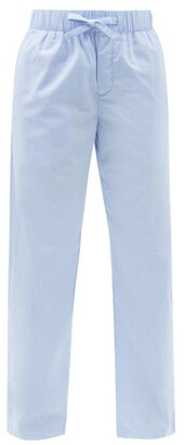 Tekla Drawstring Organic-cotton Pyjama Trousers - Light Blue