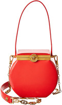 Versace Round Conglobo Leather Shoulder Bag
