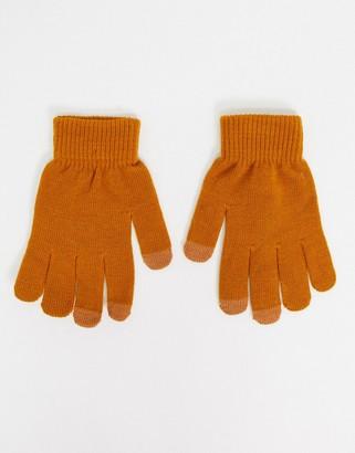 SVNX touch screen gloves in pumpkin spice