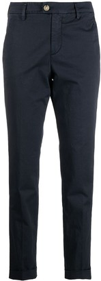 Peuterey Straight Leg Cotton-Blend Trousers