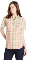 Dickies Women's Short-Sleeve Plaid Shirt
