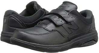 New Balance MW813 Hook and Loop (Black) Men's Walking Shoes