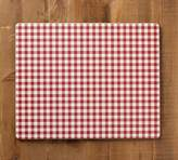 Pottery Barn Gingham Corkmat, Set of 4 - Red