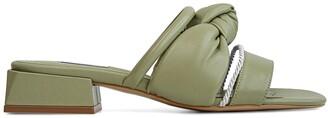 THUNA - Safa Olive Comfortable Leather Slippers